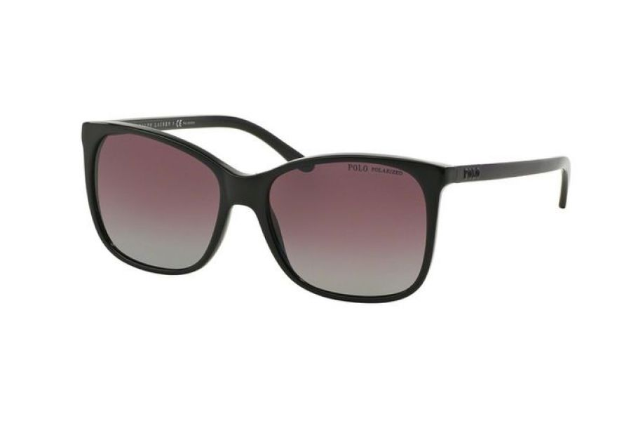 Polo Ralph Lauren - Women's Rectangular Sunglasses Black (Burgundy Gradient )