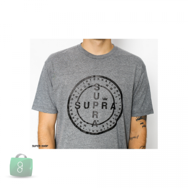 Supra - Cross Seal Regular Tee Grey Heather
