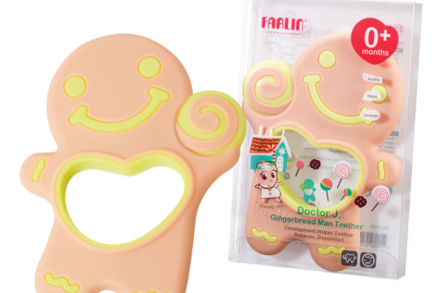 Farlin - Gingerbread Man Teether
