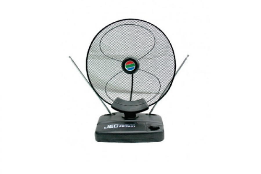 Jec Japan - Indoor Color TV Antenna With Powerful Booster