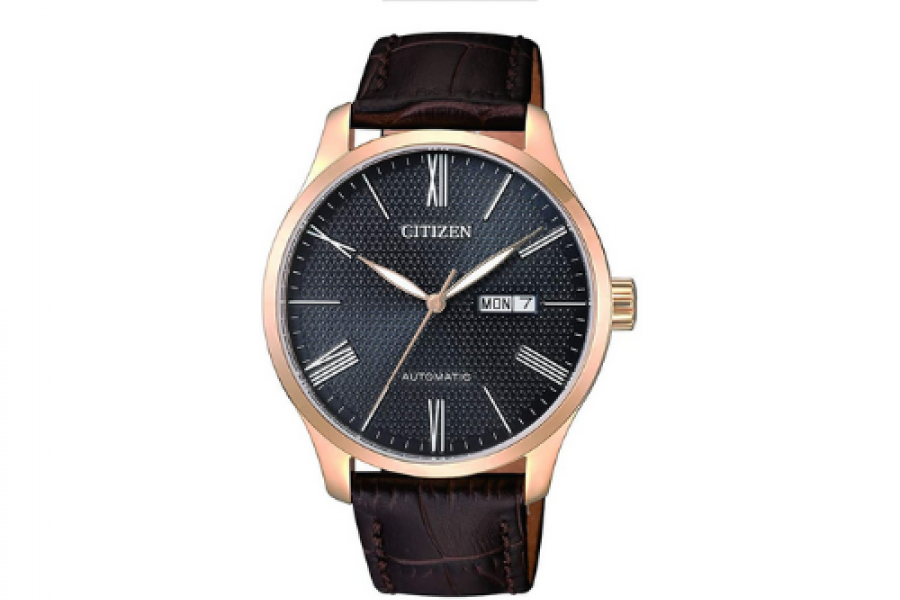 Citizen - Men's Gold Leather Automatic Dress Watch