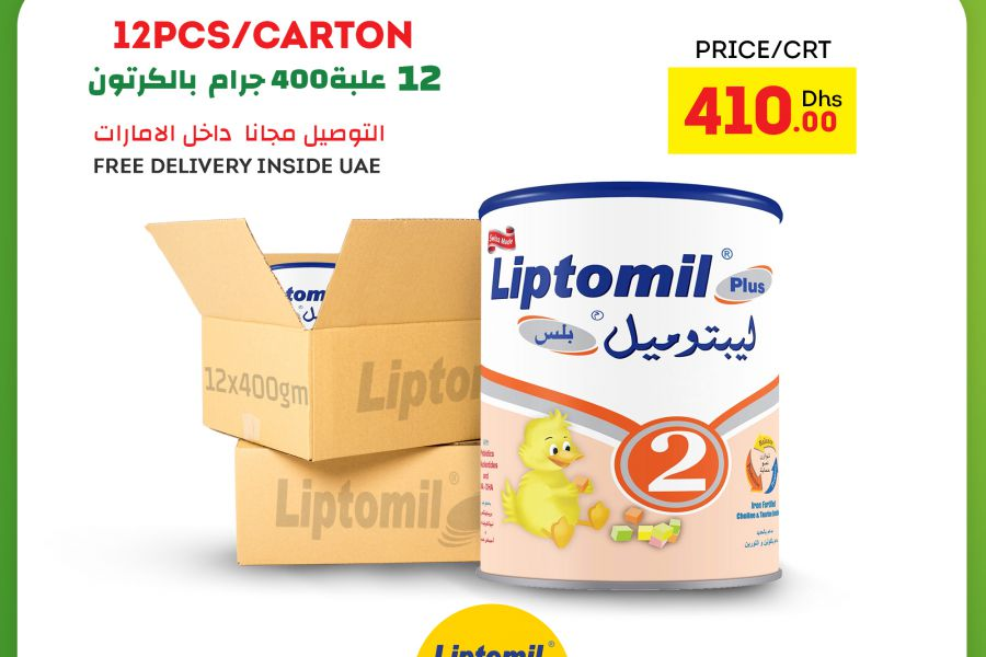 Liptomil - Plus 2 400g 6-12 Months Old