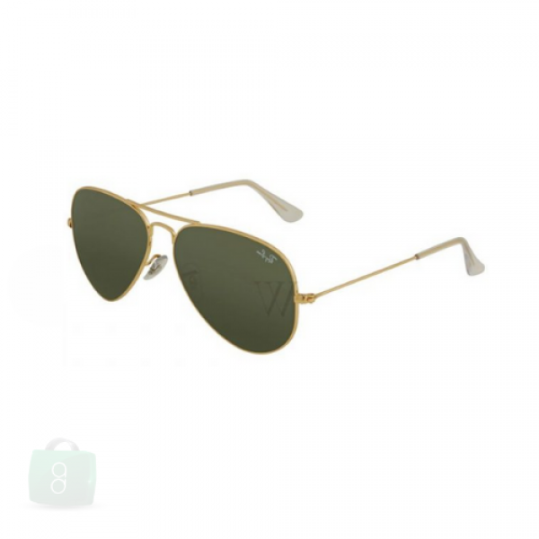 Ray-Ban - Aviator Gold Metal Sunglasses Green Lens