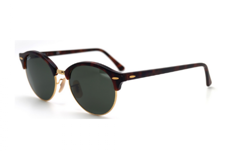 Ray-Ban - Clubround Tortoise G15 Medium Sunglasses