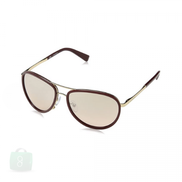 Nina Ricci - Brown/Gold For Women Sunglasses Pink Lens
