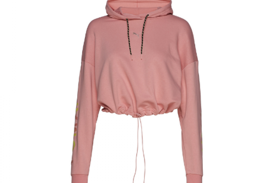 Puma Chase Cropped Hoody Bridal Ros