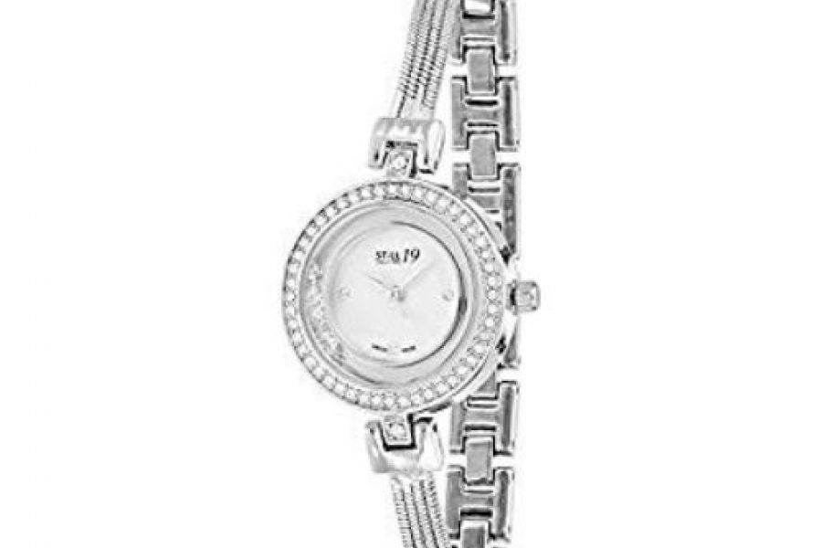 Still 19 Women's Mother of Pearl Dial Stainless Steel Band Watch