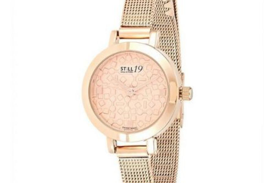 Still 19 Women's RG Plated Stainless Steel Mesh Band Watch