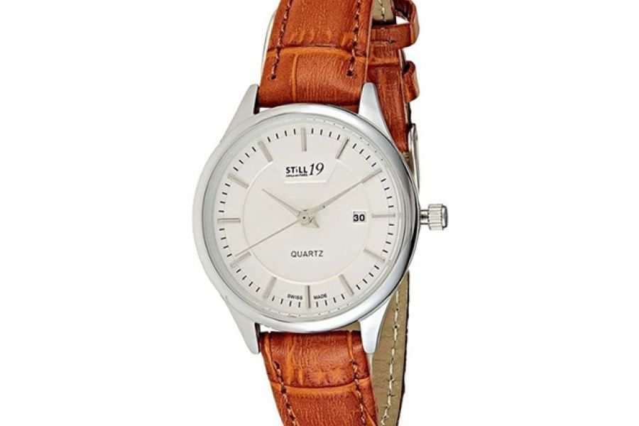 Still 19 Swiss Made For Women White Dial Leather Band Watch